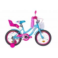 """Велосипед 16"""" Formula FLOWER PREMIUM 2021 (голубой)"""