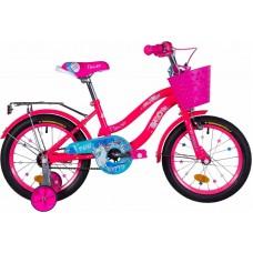 """Велосипед 16"""" Formula FLOWER 2021 (бело-оранжевый c фиолетов)"""