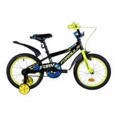 """Велосипед 16"""" Formula FURY 2021 (оранжево-черный с салатовым)"""