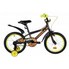 """Велосипед 16"""" Formula FURY 2020 (черно-оранжевый (м))"""