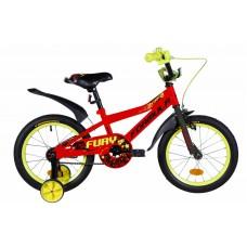 """Велосипед 16"""" Formula FURY 2020 (оранжево-черный с салатовым)"""