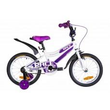"""Велосипед 16"""" Formula RACE 2021 (бело-фиолетовый)"""