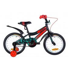 """Велосипед 16"""" Formula RACE 2021 (красно-бирюзовый с черным)"""