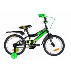 """Велосипед 16"""" Formula RACE 2020 (черно-зеленый с белым)"""