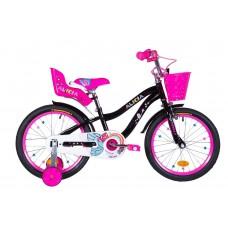 """Велосипед 18"""" Formula ALICIA 2021 (черный с розовым)"""