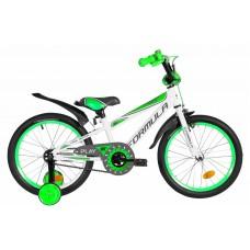 """Велосипед 18"""" Formula SPORT 2020 (бело-зеленый с серым)"""