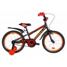 """Велосипед 18"""" Formula SPORT 2021 (черно-красный с оранжевым (м))"""