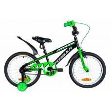 """Велосипед 18"""" Formula WILD 2021 (черно-зеленый с белым)"""