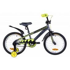 """Велосипед 18"""" Formula WILD 2021 (серо-желтый с черным (м))"""