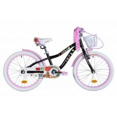 """Велосипед 20"""" Formula CREAM 2021 (черный с сиреневым)"""