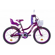 """Велосипед 20"""" Formula FLOWER PREMIUM 2020 (бело-оранжевый c фиолетов)"""