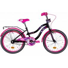 """Велосипед 20"""" Formula FLOWER 2021 (черный с розовым)"""