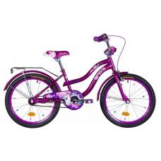 """Велосипед 20"""" Formula FLOWER 2021 (бело-оранжевый c фиолетов)"""