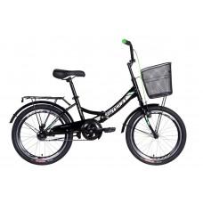 """Велосипед 20"""" Formula SMART с корзиной 2021 (черно-зеленый )"""