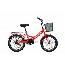 """Велосипед 20"""" Formula SMART с корзиной 2020 (красный)"""