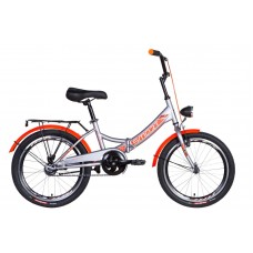 "Велосипед 20"" Formula SMART с фонарём 2021 (серебристо-синий)"