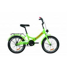 """Велосипед 20"""" Formula SMART с фонарём 2020 (зелено-красный с белым)"""