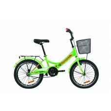 """Велосипед 20"""" Formula SMART с корзиной 2020 (зелено-красный с белым)"""