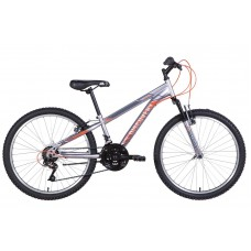 "Велосипед 24"" Discovery RIDER 2021 (серебристо-оранжевый (м))"