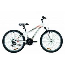 """Велосипед 24"""" Discovery RIDER 2020 (бело-красный с серым)"""
