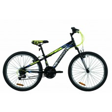 "Велосипед 24"" Discovery RIDER 2020 (черно-салатно-серый (м))"