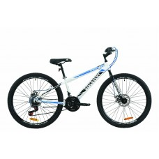 """Велосипед 26"""" Discovery ATTACK DD 2020 (бело-черный с синим)"""