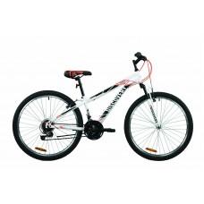 """Велосипед 26"""" Discovery RIDER 2020 (бело-красный с серым)"""