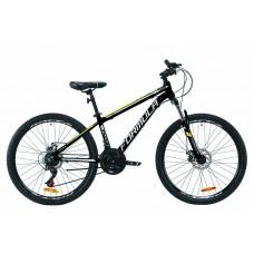 """Велосипед AL 26"""" Formula THOR 2.0 AM DD 2020 (черно-белый с желтым (м))"""