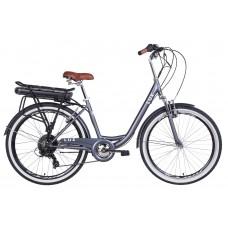 """Электровелосипед 26"""" LUX AM 350Вт 36В редуктор. дисплей, САП, 12.5Ач с крепл. к багажн., 2020 (антрацитовый (м))"""