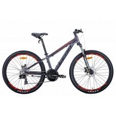 """Велосипед 26"""" Leon SUPER JUNIOR 2021 (антрацитовый с красным (м))"""
