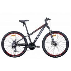 """Велосипед 26"""" Leon SUPER JUNIOR 2021 (черно-оранжевый с серым (м))"""