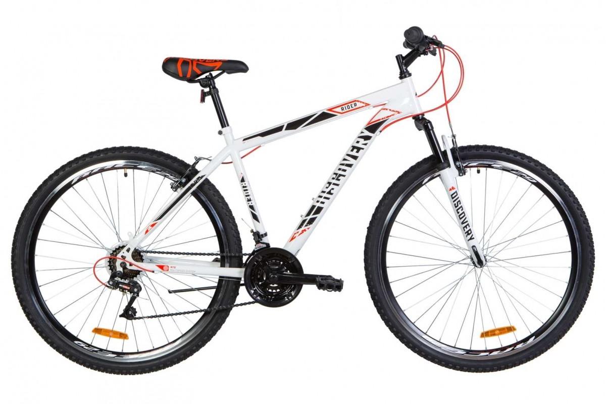 """Велосипед 29"""" Discovery RIDER 2020 (бело-красный с серым)"""