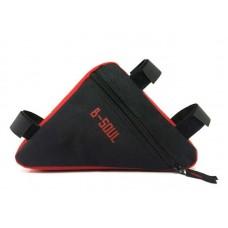 """Велосумка на раму """"треугольник"""" BC-BG064 20*18*4cm черно-красный"""