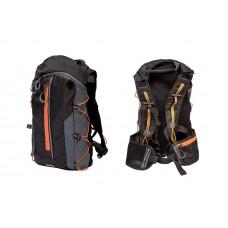 Рюкзак QIJIAN BAGS B-300 44х26х9cm черно-серо-оранжевый