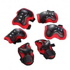 Защита FSK M07 (Кисти, локти, колени) (черно-красный)
