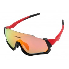 Очки велосипедные со сменными линзами GUB 5700 Anti Fog красный